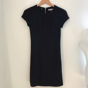Rebecca Taylor Fitted Short Sleeve Dress